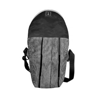 Black and White Wooden Jetty Closeup Courier Bags