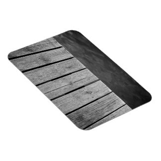 Black and White Wooden Jetty Closeup Magnets