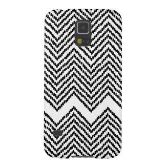 Black and White Woven Chevron Galaxy S5 Case