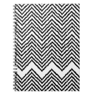 Black and White Woven Chevron Notebook