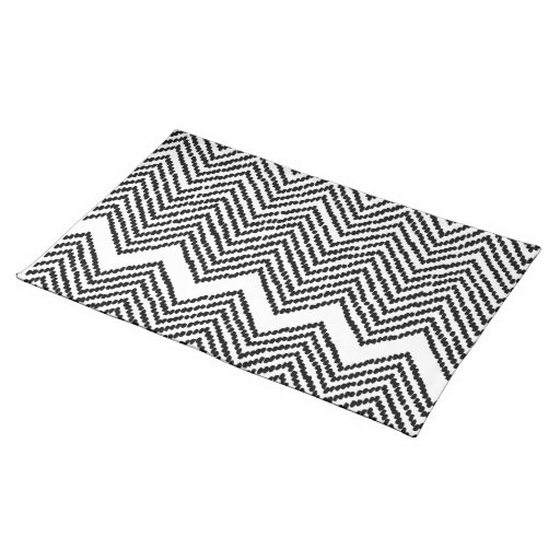 black and white woven chevron placemat zazzle. Black Bedroom Furniture Sets. Home Design Ideas