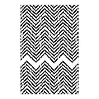 Black and White Woven Chevron Stationery