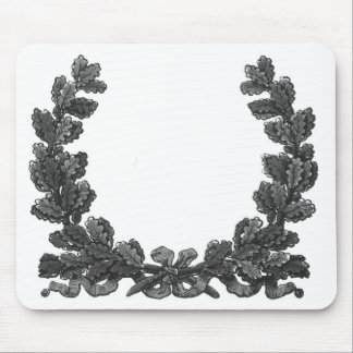 Black and white wreath with a ribbon mouse pad