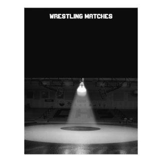 Black and white wrestling mat flyer