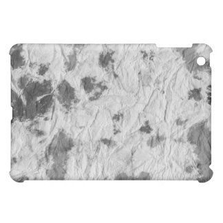 black and white wrinkled paper towel image iPad mini cases
