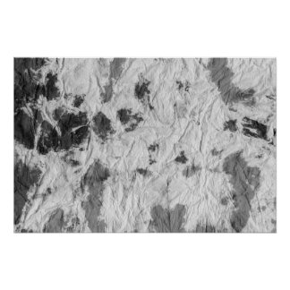black and white wrinkled paper towel image poster