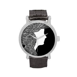 Black and White Wrist Watch