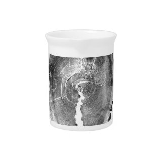 Black and White X-Ray Effect Artistic Tree Stump Pitchers