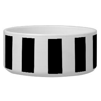 Black and White XL Stripes Pattern Bowl