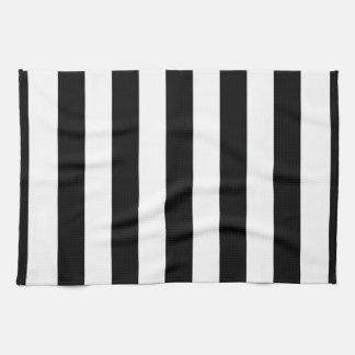 Black and White XL Stripes Pattern Towel