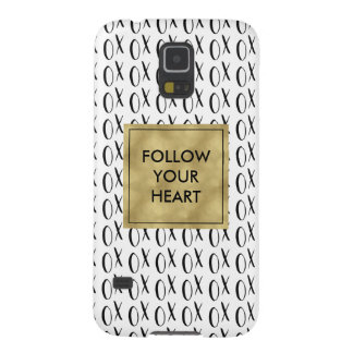 Black and White XOXO Follow Your Heart Galaxy S5 Cover