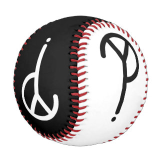 Black and White Y? Symbols Baseball