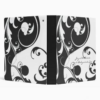 Black and White Yin and Yang 3 Ring Binder