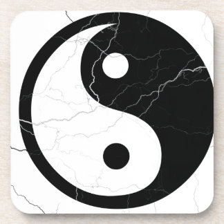 Black and White Yin and Yang Drink Coasters