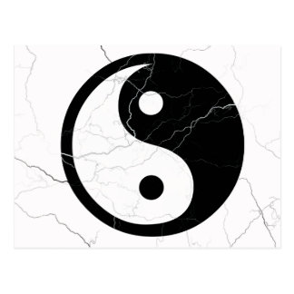Black and White Yin and Yang Postcard