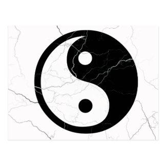 Black and White Yin and Yang Post Card