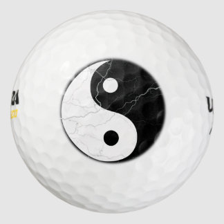 Black and White Yin Yang Golf Balls