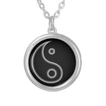Black and White Yin Yang Necklace