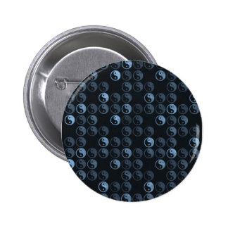 Black and White Yin Yang Pinback Button