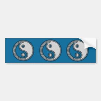 Black and White Yin Yang Symbol Bumper Sticker