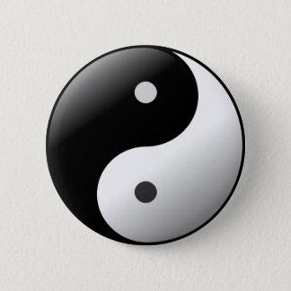 Black and White Yin Yang Symbol button