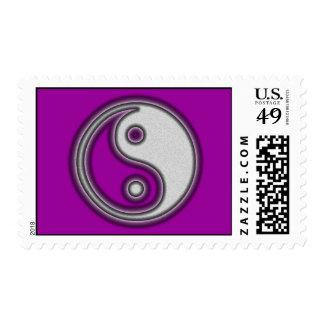 Black and White Yin Yang Symbol Postage Stamp
