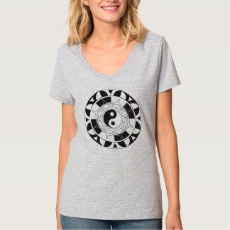 Black And White  Yin Yang Symbol T-Shirt