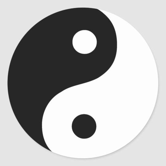 Black and white yin yang taoist symbol classic round for Deco ying yang