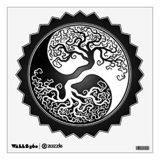 Black and White Yin Yang Tree Wall Decal