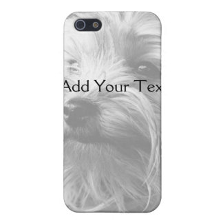 Black and White Yorkshire Terrier Yorkie iPhone SE/5/5s Cover