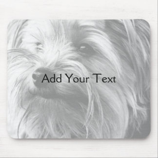 Black and White Yorkshire Terrier Yorkie Mouse Pads