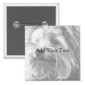 Black and White Yorkshire Terrier Yorkie Pinback Button