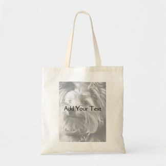 Black and White Yorkshire Terrier Yorkie Tote Bag