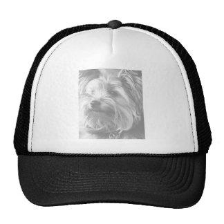 Black and White Yorkshire Terrier Yorkie Trucker Hat