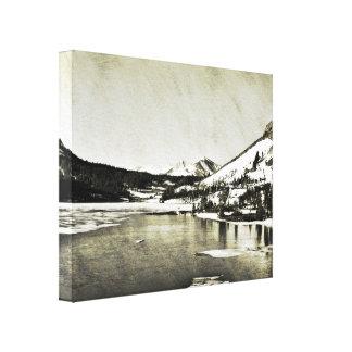 Black and White Yosemite Lake Canvas Print