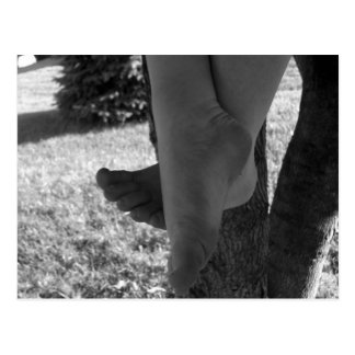 Black and White Young Feet Postcard