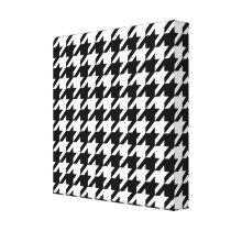 Black and White Zag Pattern Canvas Print