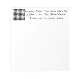 Black and White Zag Pattern Notepad
