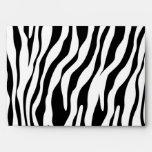 Black and White Zebra A7 Greeting Card Envelopes