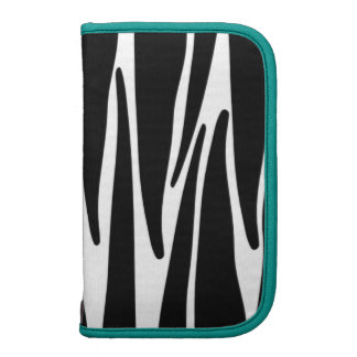 Black and White Zebra Animal Print With Teal Trim Planner