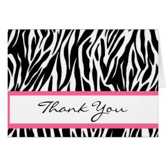 Black and White Zebra Bridal Shower Thank You Card