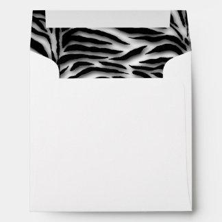 Black and White Zebra Envelope