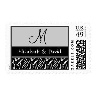 Black and White Zebra Flame Print Template Stamp