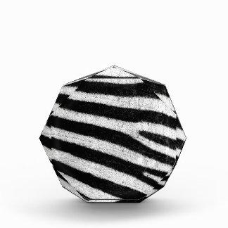 Black and White Zebra Fur Acrylic Award
