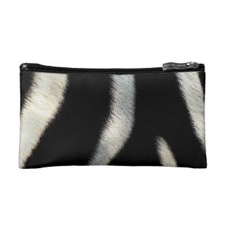 Black and White Zebra Fur - Cosmetic Bag