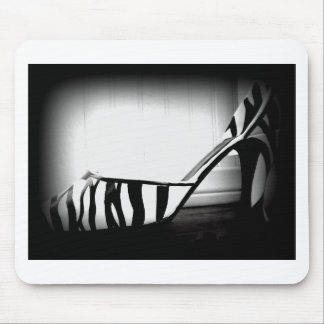 Black and White Zebra High Heel Shoe Photo product Mouse Pad