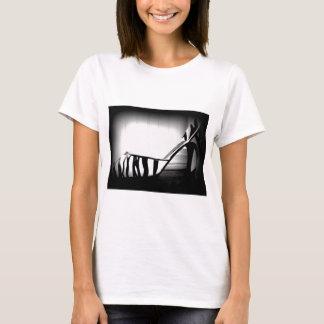 Black and White Zebra High Heel Shoe Photo product T-Shirt
