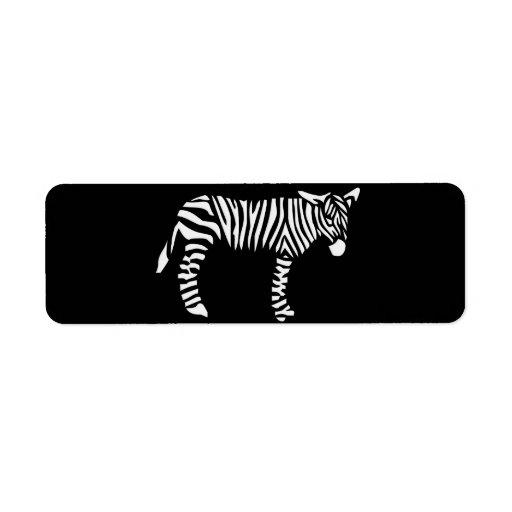 Black and White Zebra Label   Zazzle