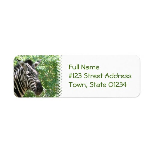 Black and White Zebra Mailing Labels