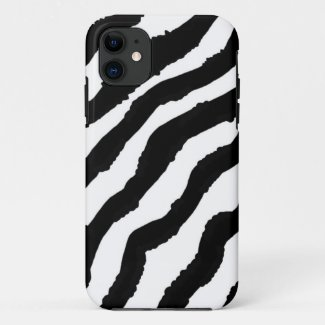 Black and White Zebra Pattern Case-Mate iPhone Case